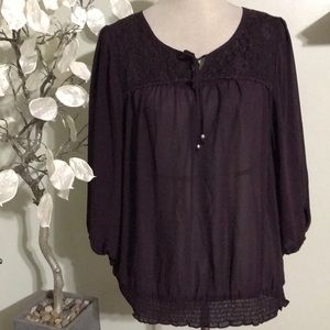 LOFT DEEP PURPLE BLOUSE